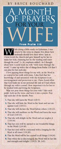 A Month of Prayers for Your Wife from Psalm 119 50-pack