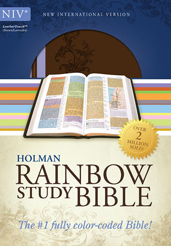 NIV Rainbow Study Bible, Brown/Lavender LeatherTouch
