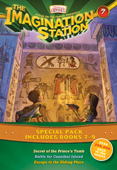 Imagination Station Books 3-Pack: Secret of the Prince's Tomb / Battle for Cannibal Island / Escape to the Hiding Place
