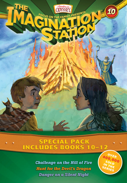 Imagination Station Books 3-Pack: Challenge on the Hill of Fire / Hunt for the Devil's Dragon / Danger on a Silent Night