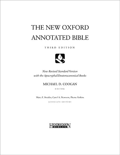 New Oxford Annotated Bible Loose - Leaf, Third Edition, Loose - Leaf
