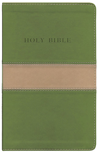 KJV Personal Size Giant Print Reference Bible - FLEXISOFT LEATHER TAN/OLIVE