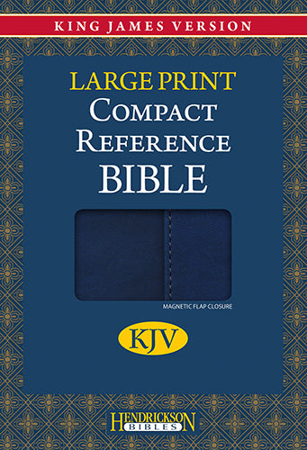 KJV Compact Reference Bible, Large Print Blue w/Magnetic Flap