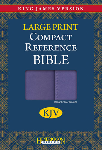 KJV Compact Reference Bible, Large Print Lilac w/Magnetic Flap