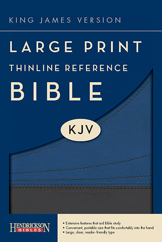 KJV Large Print Thinline Reference Bible, Slate/Blue