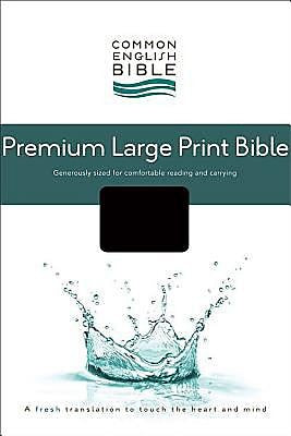 CEB Common English Premium Large Print Bible, Decotone Black Onyx