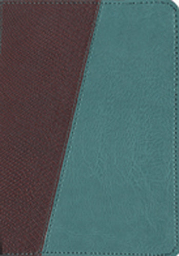 The Message Compact, Python (Leather-Look, Brown/Teal)