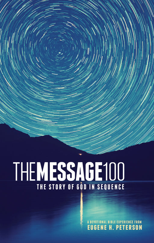 The Message 100 Devotional Bible (Hardcover, Starry Night)