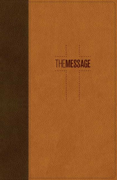 The Message Deluxe Gift Bible (Leather-Look, Brown/Saddle Tan)