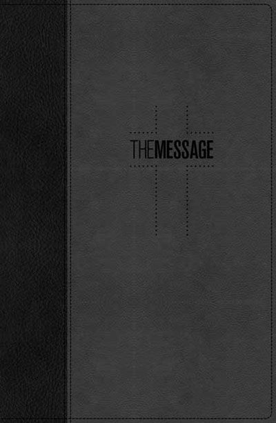 The Message Deluxe Gift Bible (Leather-Look, Black/Slate)