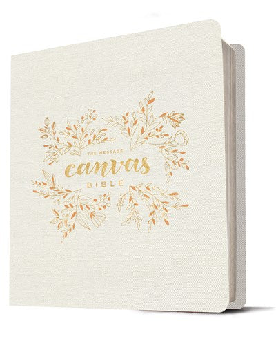 The Message Canvas Bible (Canvas-Look, Gold Leaf)