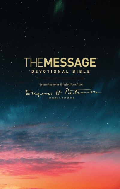 The Message Devotional Bible (Hardcover)
