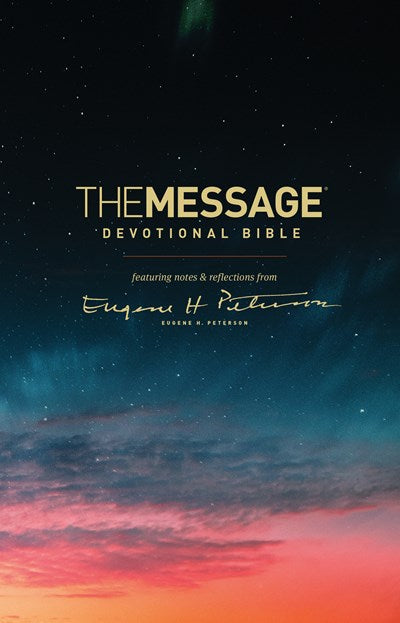 The Message Devotional Bible (Softcover)