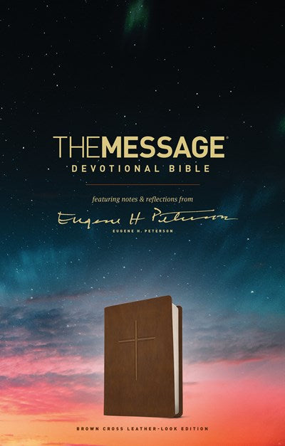 The Message Devotional Bible, Brown Cross (Leather-Look, Brown)