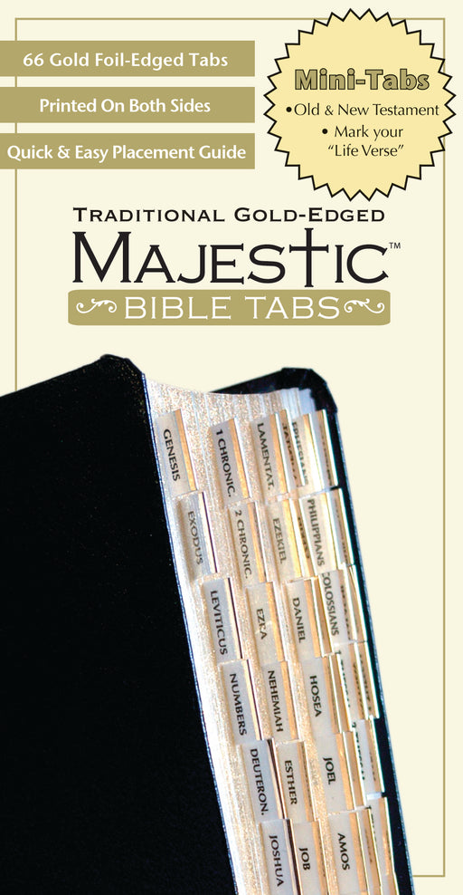 Majestic Traditional Gold Bible Tabs mini
