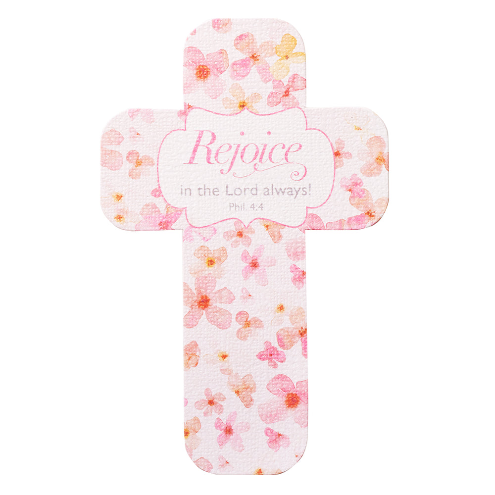 Rejoice in the Lord Always Paper Cross Bookmark
