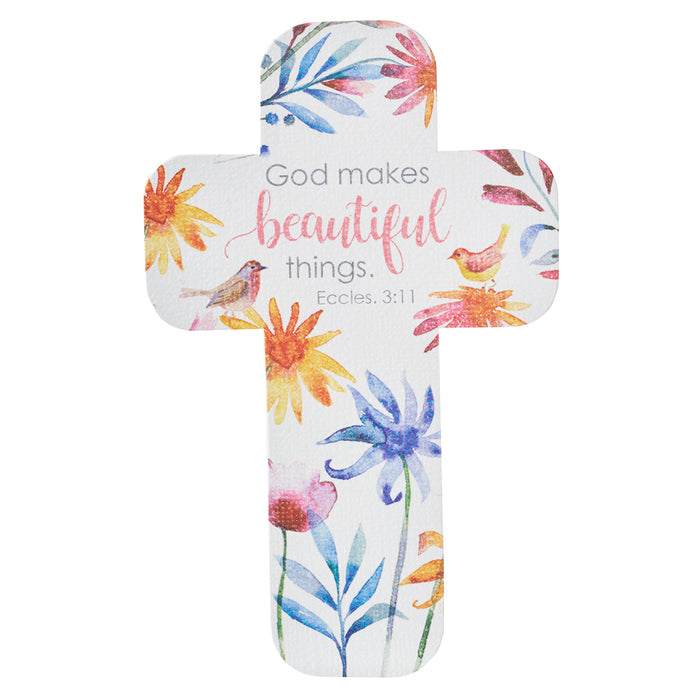 God Makes Beautiful Things Paper Cross Bookmark - Ecclesiastes 3:11
