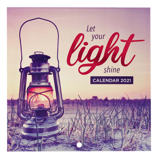 Let Your Light Shine 2021 Small Wall Calendar - Matthew 5:16