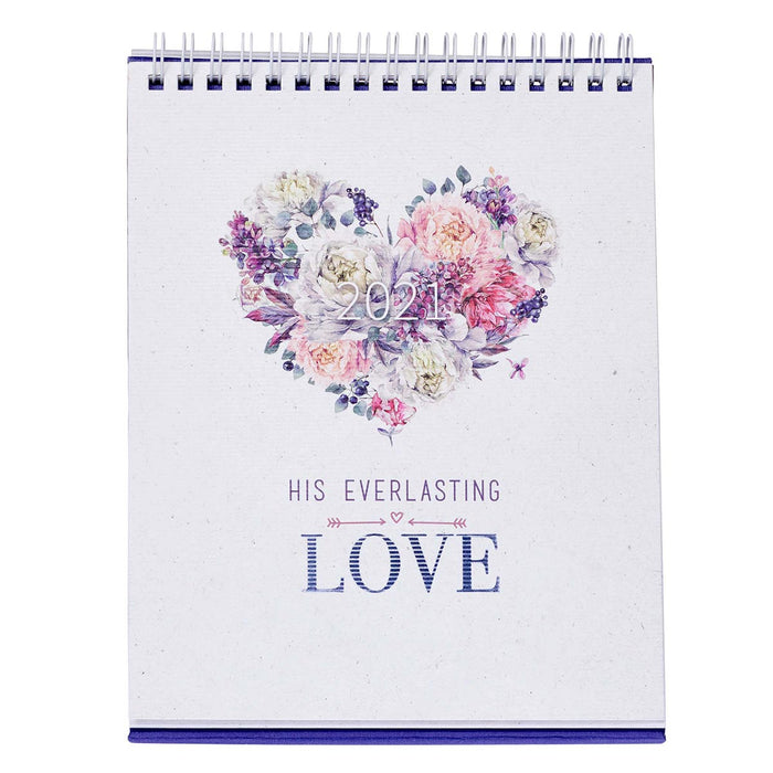 His Everlasting Love 2021 Desktop Calendar