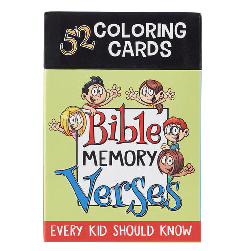 52 Bible Memory Verses Every Kid Should Know Coloring Cards for Kids