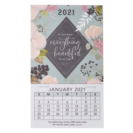 Everything Beautiful  2021 Mini Magnetic Calendar - Ecclesiastes 3:11