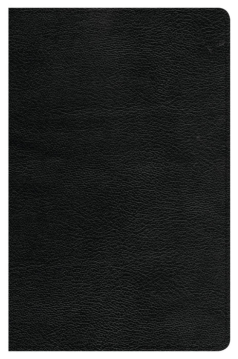 CSB Ultrathin Reference Bible, Black Genuine Leather