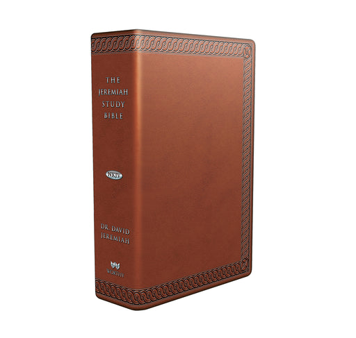 The Jeremiah Study Bible, NKJV: (Brown w/ burnished edges) LeatherLuxe®