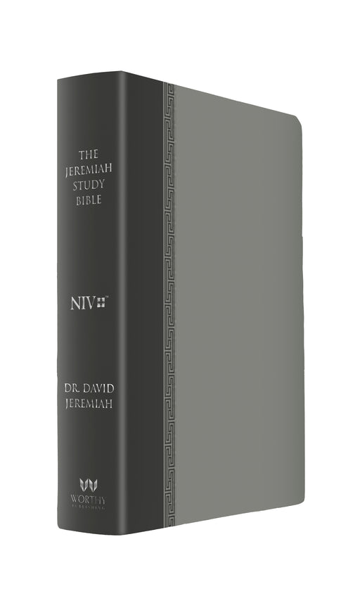 The Jeremiah Study Bible, NIV: (Gray w/ burnished edges) LeatherLuxe®