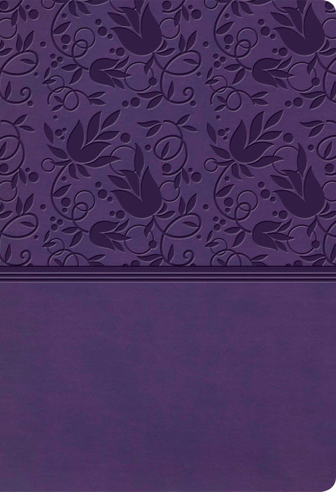 KJV Super Giant Print Reference Bible, Purple LeatherTouch, Indexed