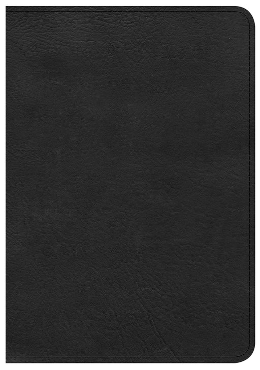 CSB Large Print Compact Reference Bible, Black LeatherTouch