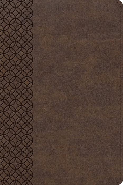 CSB Giant Print Center-Column Reference Bible, Brown LeatherTouch