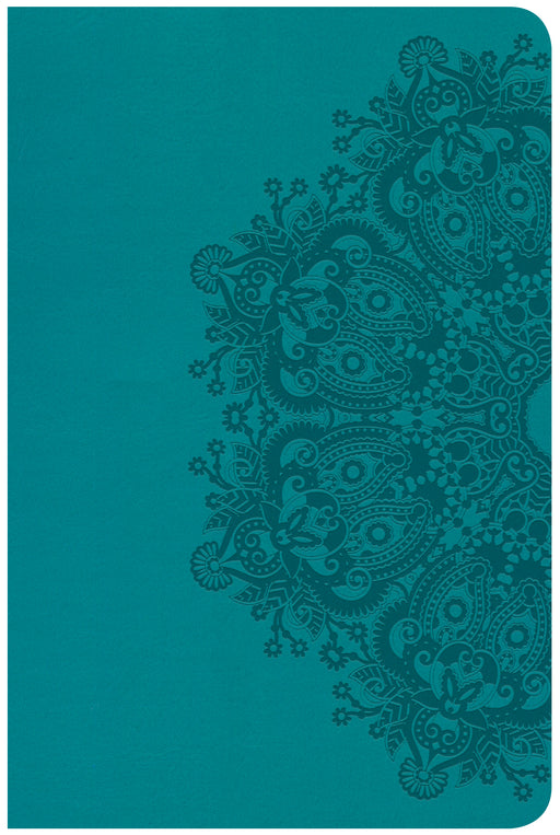 CSB Compact Ultrathin Bible, Teal LeatherTouch