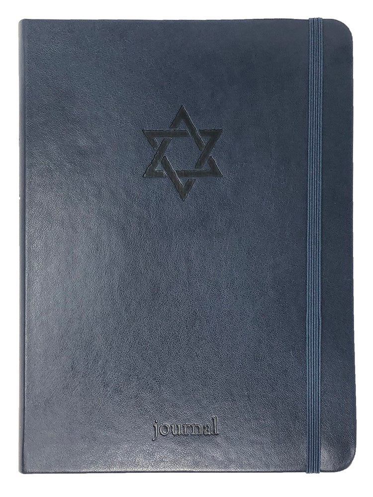 The Star of David Essential Journal (Navy LeatherLuxe®)