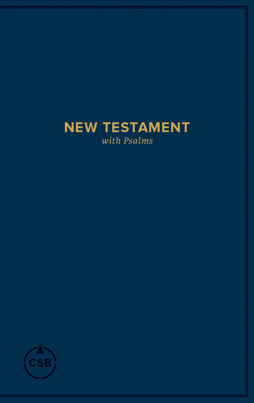 CSB Pocket New Testament with Psalms, Navy Trade Paper