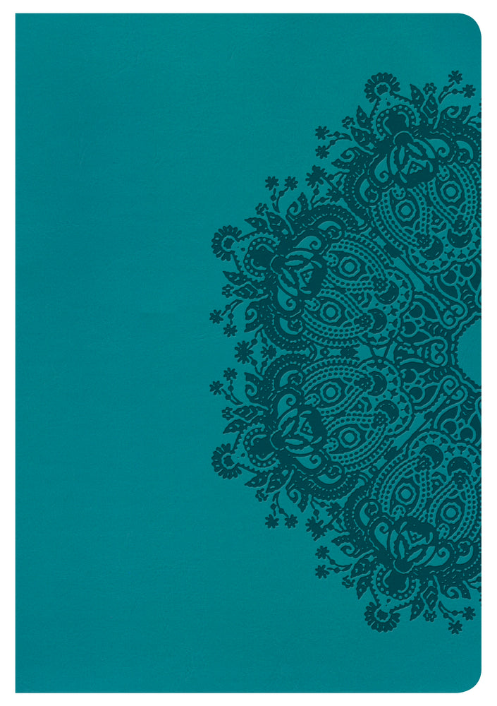 HCSB Large Print Ultrathin Reference Bible, Teal LeatherTouch, Indexed