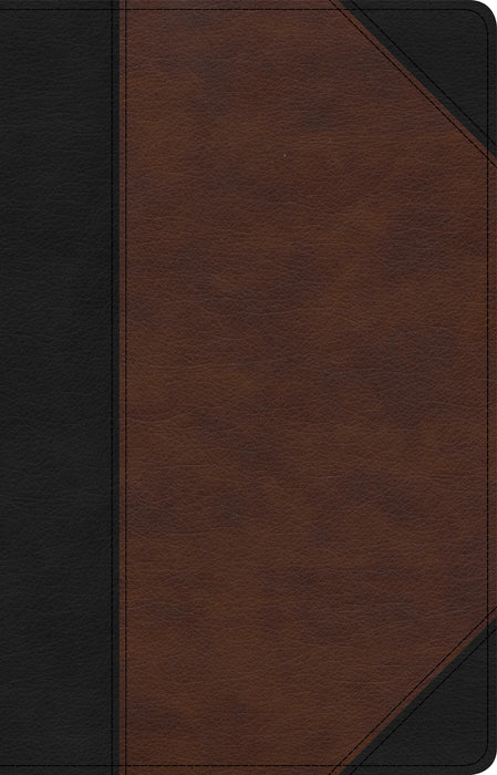 CSB Large Print Personal Size Reference Bible, Black/Brown LeatherTouch, Indexed