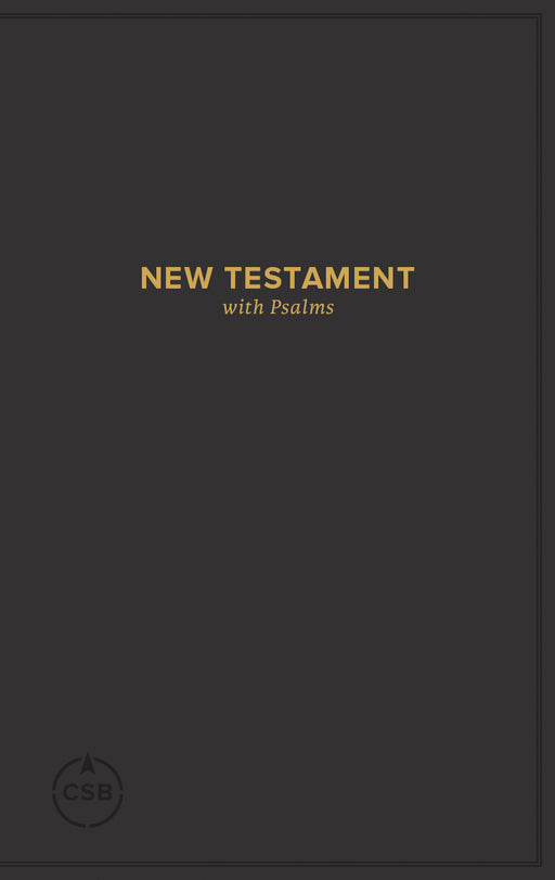 CSB Pocket New Testament with Psalms, Black Trade Paper