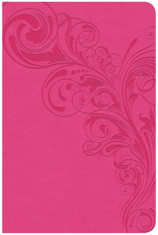 CSB Compact Ultrathin Bible, Pink LeatherTouch