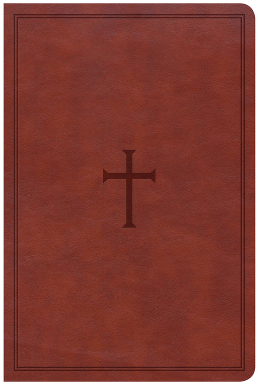 CSB Large Print Personal Size Reference Bible, Brown LeatherTouch, Indexed