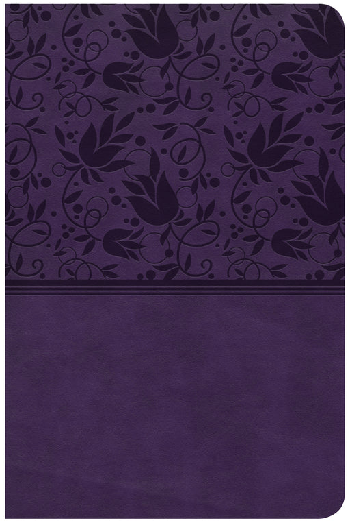 CSB Compact Ultrathin Bible, Purple LeatherTouch