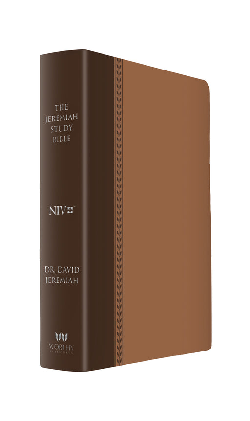 The Jeremiah Study Bible, NIV: (Brown w/ burnished edges) Leatherluxe®