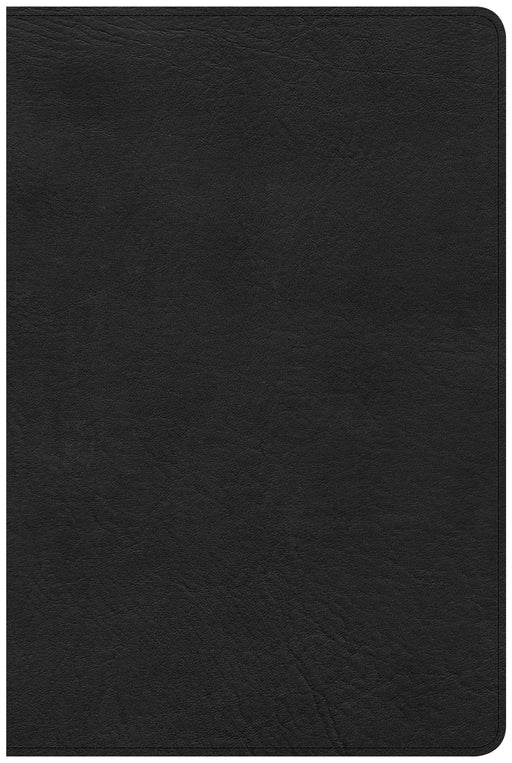 CSB Large Print Personal Size Reference Bible, Black LeatherTouch