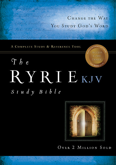 The Ryrie KJV Study Bible Bonded Leather Black Red Letter Indexed