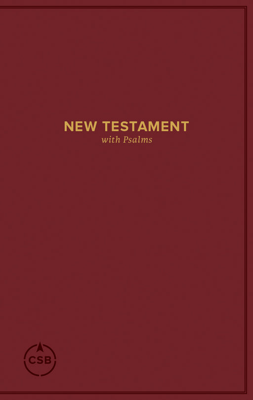 CSB Pocket New Testament with Psalms, Burgundy Trade Paper