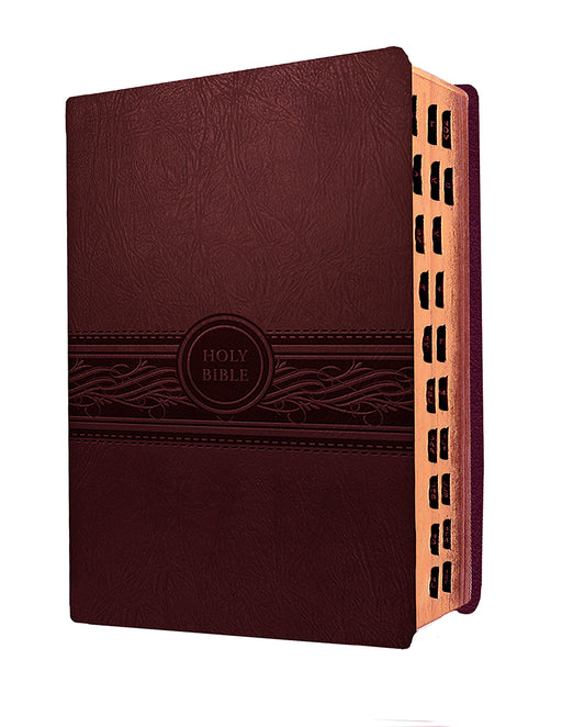 MEV Bible Personal Size Large Print Cherry Brown Indexed