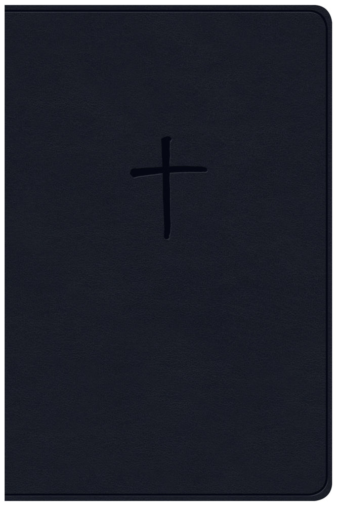 CSB Compact Bible, Navy LeatherTouch, Value Edition