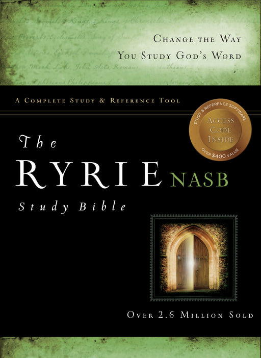 The Ryrie NAS Study Bible Genuine Leather Burgundy Red Letter