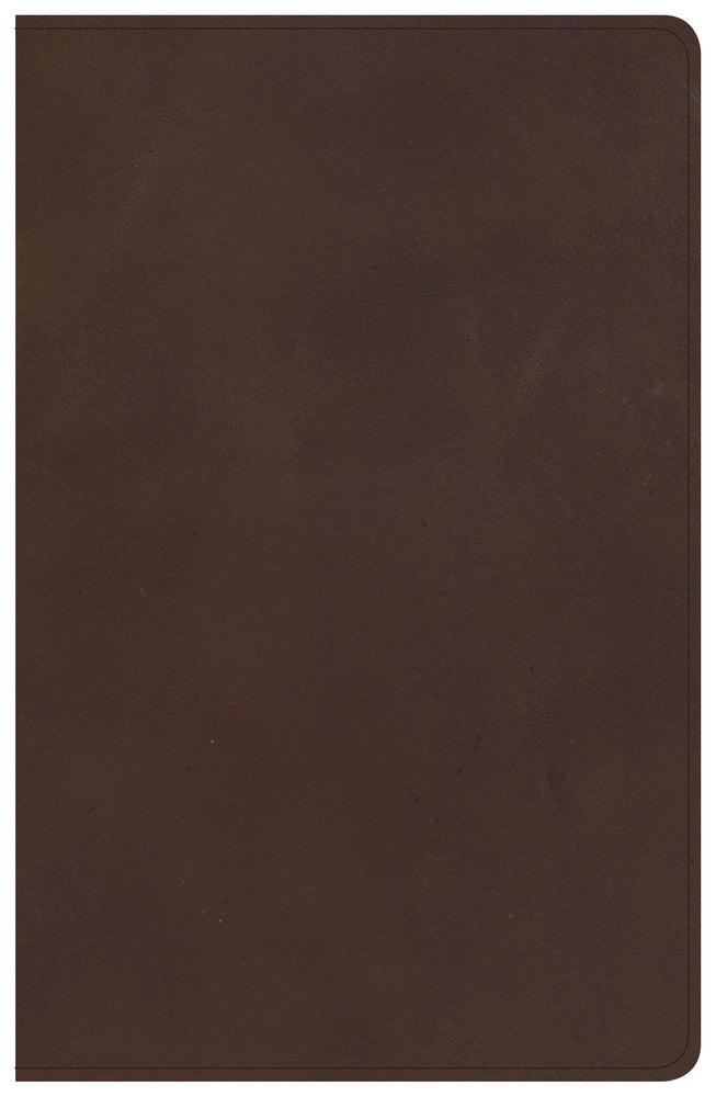 CSB Single-Column Personal Size Bible, Brown Genuine Leather
