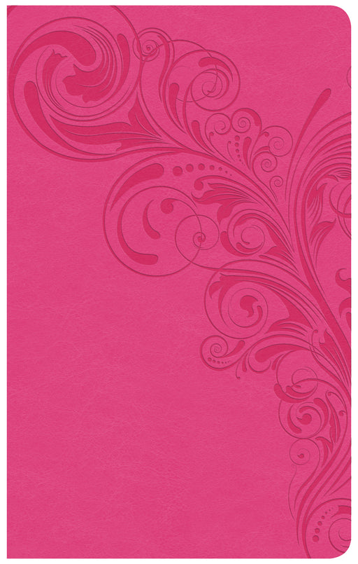 CSB Ultrathin Reference Bible, Pink LeatherTouch