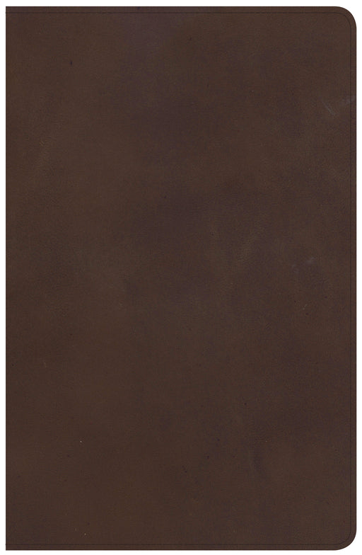 NKJV Large Print Personal Size Reference Bible, Brown Genuine Leather